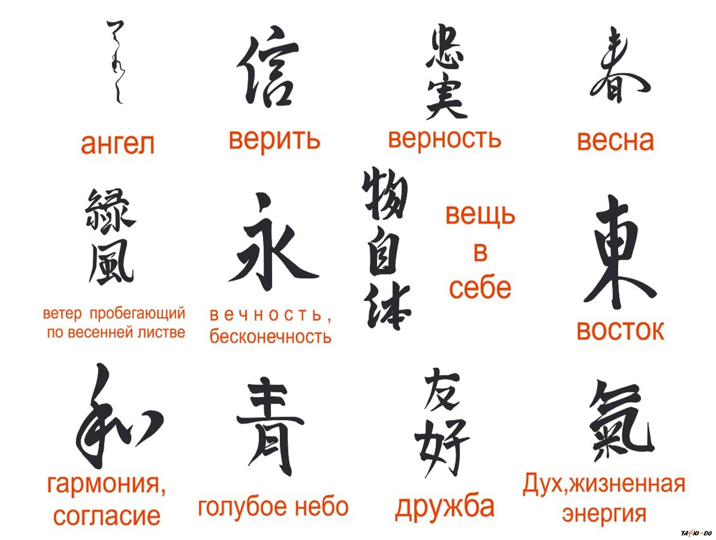 Татуировки иероглифы и их значения на русском Китай в мире 37